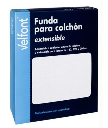 FUNDA DE COLCHÓN MICROFIBRA BIELÁSTICA (BLANCO)