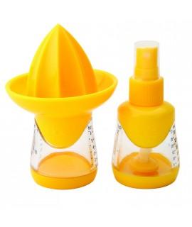 SET de Rasqueta para cocina + exprimidor/vaporizador + escurridor